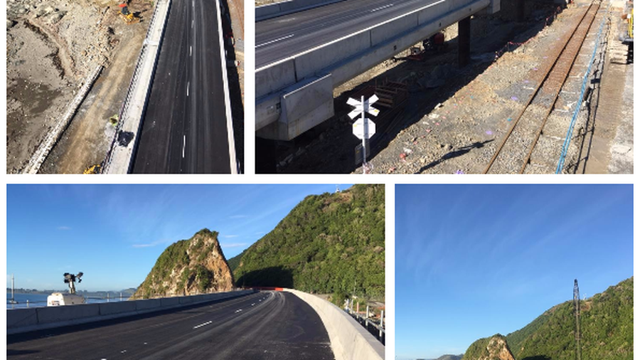 The new State Highway 1 at Kaikoura reopened today. (Photos / NZTA)