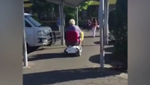 Caught on camera: Man on mobility scooter hurls racist abuse