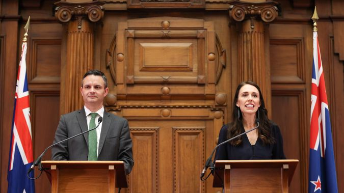 Jacinda Ardern and James Shaw announced the timeline at a press conference this afternoon. (Photo / Getty)