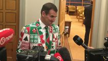 Backbencher steals the show with festive threads