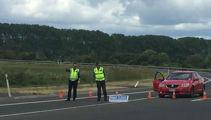 Policeman hit by fleeing car flown to Waikato Hospital