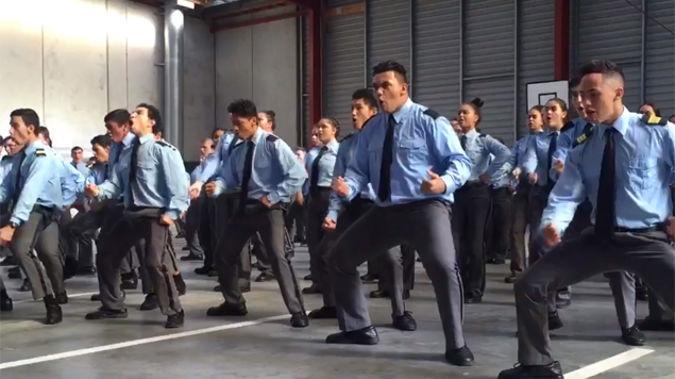 Vanguard charter school students perform haka. (Photo: Alicia Burrow)