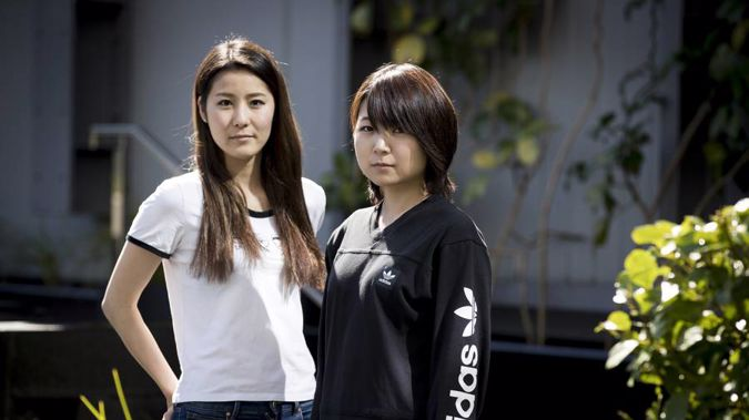 Anna Masumoto (left) and Utako Neda have come to New Zealand on working holiday visas. (Photo / NZ Herald)