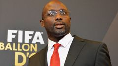 Former footballer George Weah played for European giants Monaco, PSG, AC Milan, Chelsea and Manchester City in the 1980s and 1990s. (Photo \ Getty Images)