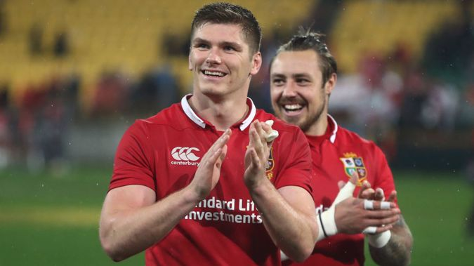 England and Lions first-five Owen Farrell has been named the world's best rugby player. (Photo \ Getty Images)