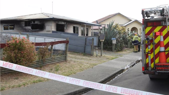 The Hawke's Bay home was extensively damaged. (Photo \ NZ Herald)