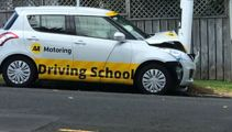 More lessons needed? Driving school car crashes