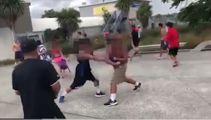 Two arrested after brutal pool carpark brawl