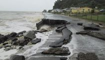 Thames-Coast Rd destroyed by waves in monster storm