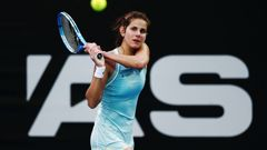 Second seed Julia Goerges has beaten Polona Hercog 6-4, 6-4 on Centre Court. (Photo: Getty Images)