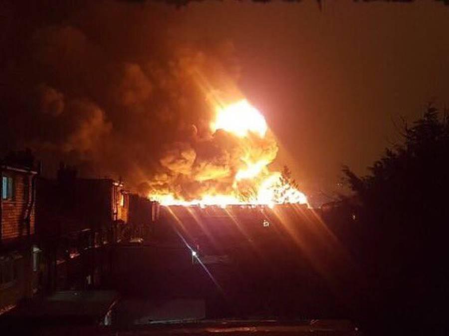 London paint factory blaze sends fireballs into air