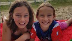 Klaudia (13) and Nastacia (10) Gaylard together. (Photo / Supplied)