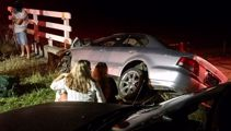 Five teenage girls lucky to all survive crash