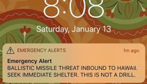 Nadine Higgins: Missile mistake exposes nuclear threat reality