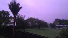 Purple Rain: Auckland's sky lit up by lavender clouds