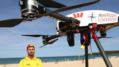 Surf Life Saving drone Little Ripper undergoing a test on Sydney's Maroubra beach. In barely a month, it would save two lives. (Photo / News Corp Australia)