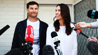 Jacinda Ardern, Clarke Gayford join MPs and families at first caucus of the year