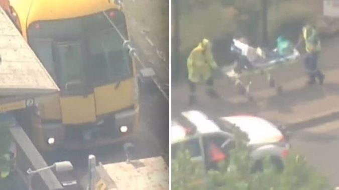 Multiple injuries have been reported following a train crash in Sydney's north west on Monday morning. (Photo \ NZ Herald)