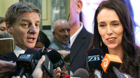 Bill English slams Jacinda Ardern over dropping targets