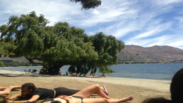 Wanaka has been sweltering in above 30 degree heat for the last week. (Photo: Kim Ace)