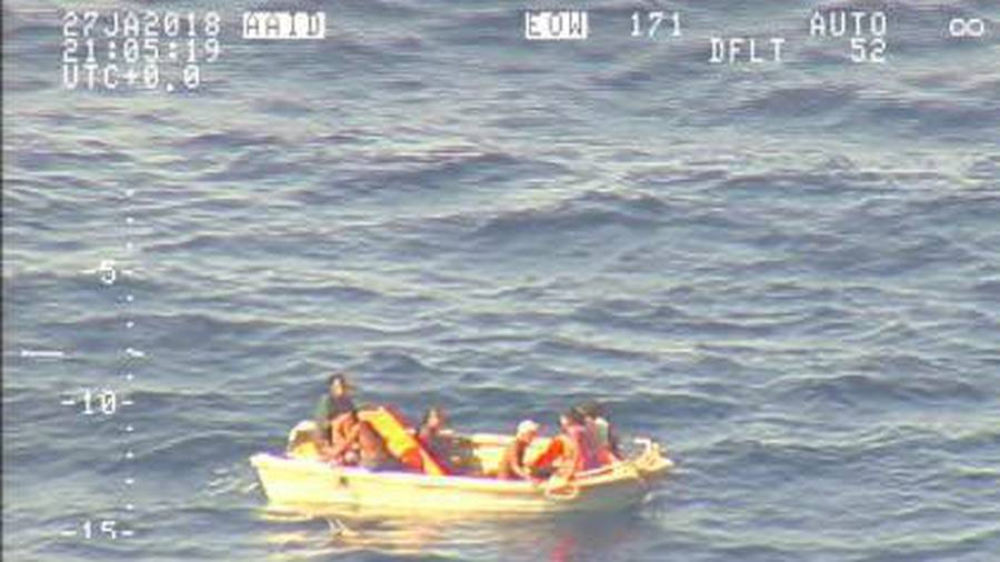 Seven people have been found on a dinghy thought to be one of two on the Kiribati ferry which went missing more than a week ago. (Photo / NZDF)