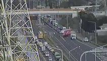 Crash chaos, motorway closed, 6km queues to get on motorway