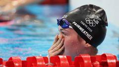 Erika Fairweather after the Women's 400m Freestyle Final. (Photo / NZ Herald)