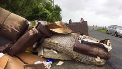 Rubbish dumped in South Auckland is becoming more of an issue for the council. (Photo/ Phil Taylor)