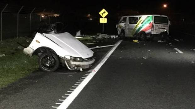 Four people were killed in the crash outside Hamilton Airport. (Photo / NZ Herald)