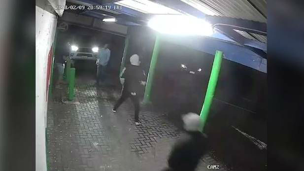 CCTV footage shows gang attacking shop staff