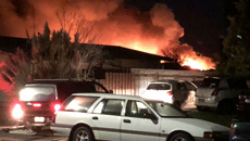 Large fire at scrap metal yard in Palmerston North