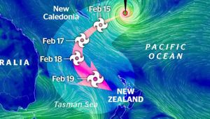 Cyclone Gita is now expected to strike New Zealand late on Tuesday. (Photo/ NZ Herald)
