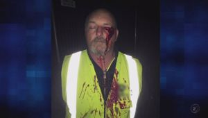 Terry the security guard was attacked at the end of Cup Week. (Photo / TVNZ2)