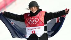 Zoi Sadowski-Synnott reacts to her bronze win