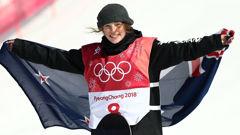 Zoi Sadowski-Synnott after winning Winter Olympics bronze (Photo \ Getty Images)