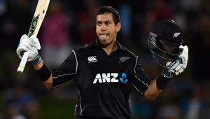 Ross Taylor scored his 18th ODI century, and 35th for New Zealand, as the Black Caps chased down 285 against England. (Photo \ Getty Images)