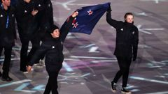 Nico Porteous joins Zoi Sadowisk-Synnott as New Zealand's flag bearer. (Photo / Getty)
