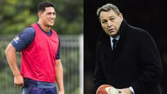 Roger Tuivasa Sheck (l) (photo Jason Oxenham), Steve Hansen (r) (photo / Getty Images)