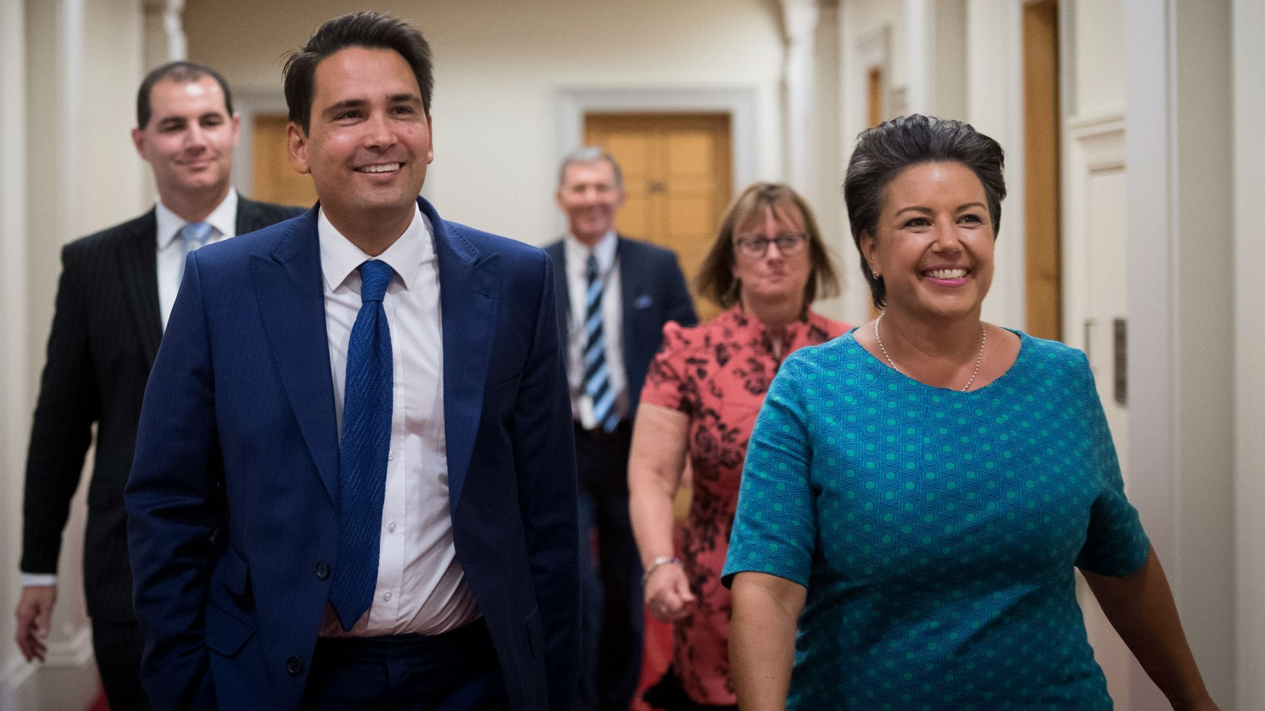 Simon Bridges and Paula Bennett were all smiles yesterday, but will they still be grinning in 2020? (Photo / NZ Herald)