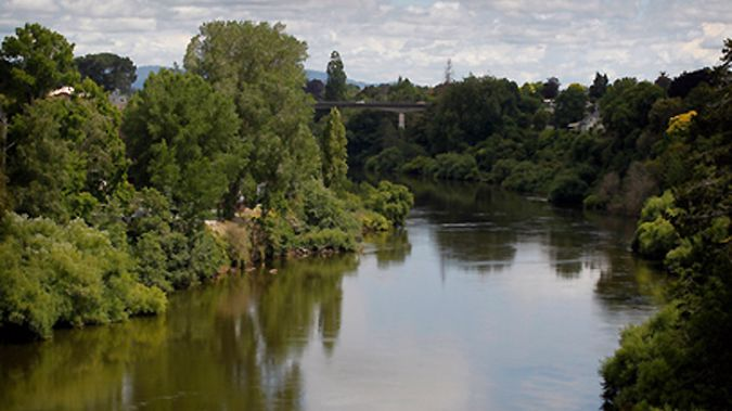 The man jumped in to the Waikato River who was fleeing from police on Saturday morning. (Photo/ NZ Herald)