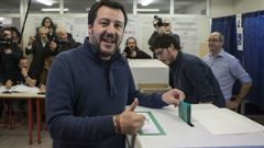 Matteo Salvini is one of the favourites to be named Italy's new prime minister. (Photo \ Getty Images)