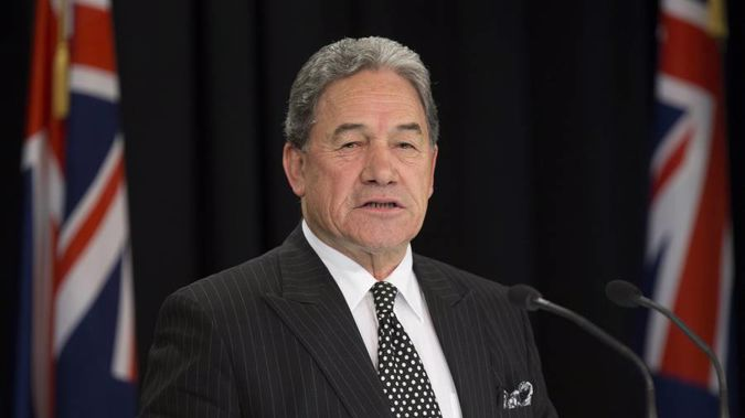 Winston Peters has fired a final broadside at the outgoing Steven Joyce. (Photo \ Mark Mitchell)