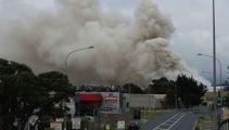 Auckland scrap yard fire still burning