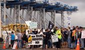 Strikes, such as Auckland Port's from several years ago, could become more frequent under the law change. (Photo / File)