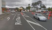 Anti-cycleway protester tears up traffic island in central Auckland