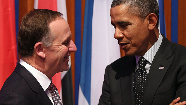 John Key talks with Barack Obama (Photo \ Getty Images)