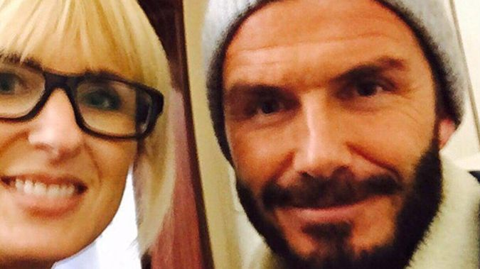 Kate Hawkesby and David Beckham (File)