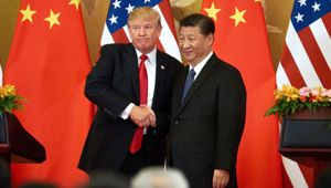 Donald Trump and Xi Jinping at a meeting last year. (Photo / Getty)