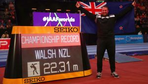 Tom Walsh at the World Athletics Indoor Champs (Photo \ Getty Images)