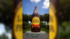 The giant bottle is one of many New Zealand landmarks. (Photo / NZ Herald)